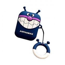 Custodia design creativo in silicone per Airpods 1/2 a forma di Anpanman Blu