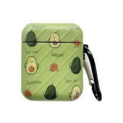 Custodia design creativo in silicone per Airpods 1/2 a forma di Avocato Verde