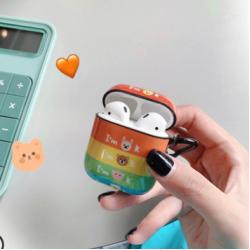 Custodia design creativo in silicone per Airpods 1/2 a forma dell'arcobaleno