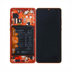 Display Lcd + Touchscreen Display completo + Frame per Huawei P30 Amber Sunrise Red Originale
