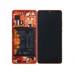 Display Lcd + Touchscreen Display completo + Frame per Huawei P30 Pro Amber Sunrise Red Originale