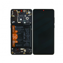 Display Lcd + Touchscreen Display completo + Frame per Huawei P30 Nero Originale