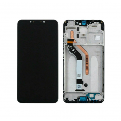 Display Lcd + Touchscreen Display completo con Frame per Xiaomi Pocophone F1 Nero