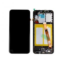 Display Lcd + Touchscreen Display completo + Frame per Samsung A20E A202F Nero Originale