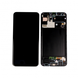 Display Lcd + Touchscreen Display completo + Frame per Samsung A30S A307F Nero Originale